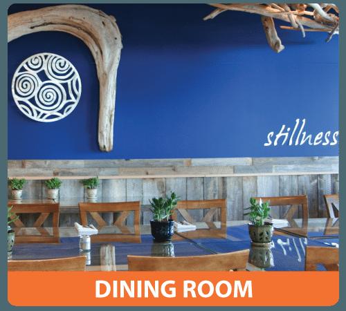 health retreat dining room
